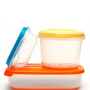 Lunch boxes, food containers and salad bowls